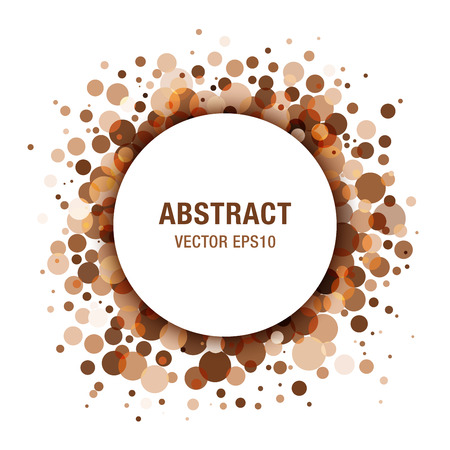 Brown - Coffee Abstract Circle Frame Design Element Illustration