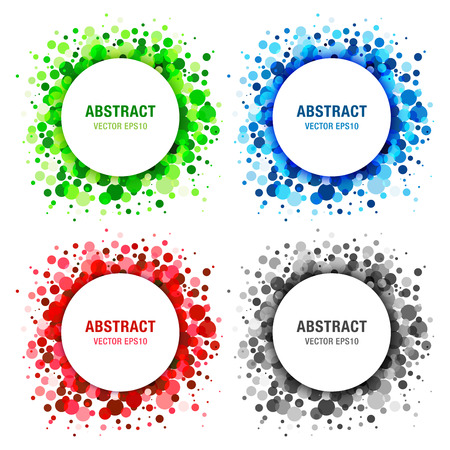 pharm: Set of  Bright Abstract Circles Frames Design Elements Illustration