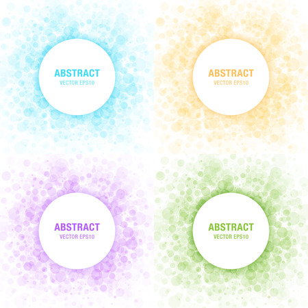 Set of Colorful Light Abstract Circles Frames