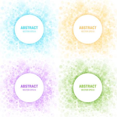 champú: Conjunto de coloridas Luz Marcos Círculos abstractos