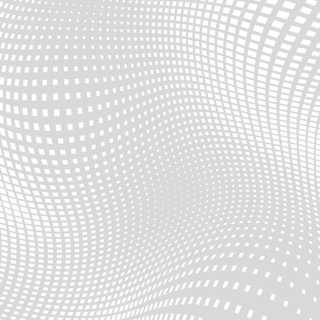 distort: Light Gray White Distort Halftone Square Background Illustration