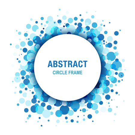 marcos redondos: Marco azul claro abstracto del círculo Diseño Elemento Vectores