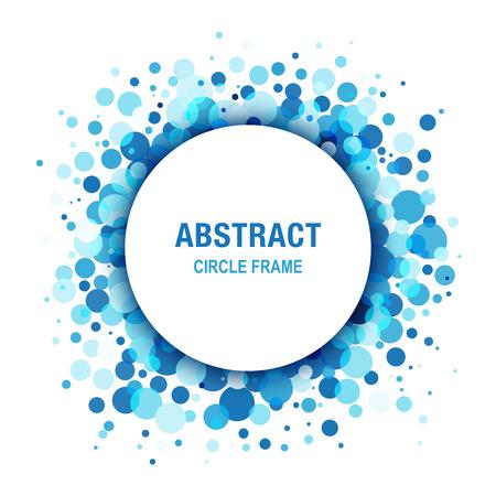 jabon: Marco azul claro abstracto del c�rculo Dise�o Elemento Vectores