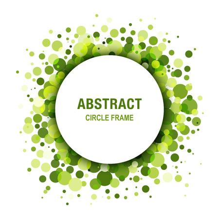 Green - Eco Spring Abstract Circle Frame Design Element 일러스트