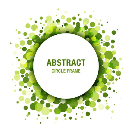 Green - Eco Spring Abstract Circle Frame Design Element Vettoriali