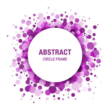 Purple - Violet Abstract Circle Frame Design Element