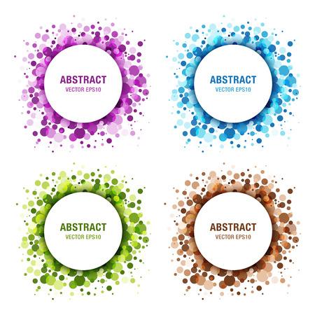 Set van kleurrijke abstracte cirkels. Frame design elementen