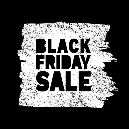 a stain: Black Friday Sale hand drawn white  grunge stain, vector illustration Illustration