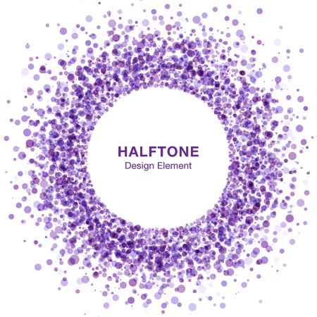 vector element: Violet Abstract Halftone Design Element. Vector Background