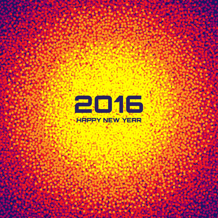 splash background: Bright Colorful New Year 2016 Celebration Background, vector illustration Illustration