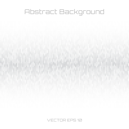 Abstract Gray Technology Lines Background. Sound waves oscillating white background. Vector illustration for club, radio, party, concerts or the audio technology advertising background. Stock Illustratie