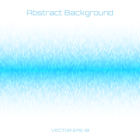 Abstract Light Blue Technology Lines Background. Sound waves oscillating on white background. Vector illustration for club, radio, party, concerts or the audio technology advertising background. Vettoriali