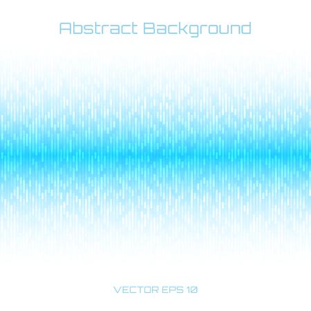 Abstracte lichtblauwe Technologie Lijnen Achtergrond. Geluidsgolven oscillerende op een witte achtergrond. Vector illustratie voor club, radio, party, concerten of de audio-technologie reclame achtergrond.
