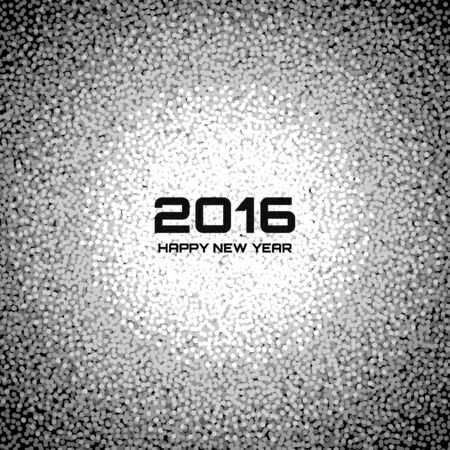 snow flake: Gray New Year 2016 Snow Flake Background, vector illustration Illustration