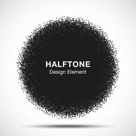 dripping: Abstract Halftone Dots Circle. Vector illustration for your design
