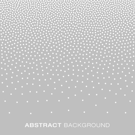 abstract white: Abstract Gradient Halftone White Dots on Gray Background.  Jewelry Silver Background Concept. illustration