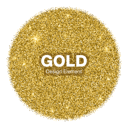 Fondo Brillante Brillante Círculo de Oro. Concepto de la joyería del oro del emblema. Ilustración de fondo Ilustración de vector