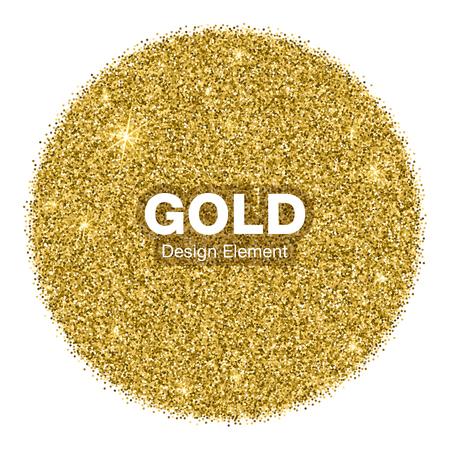 Golden Bright Glowing Circle Background. Jewelry Gold Emblem Concept. Background Illustration Vektorové ilustrace
