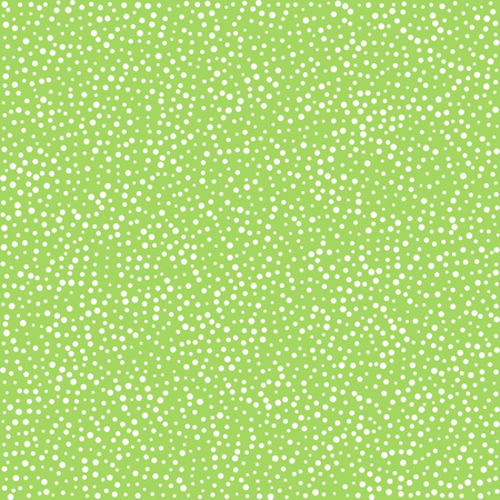 woven label: White dots on green background, seamless pattern for textile cloth industry. illustration Illustration