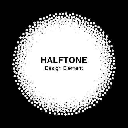 Witte abstracte halftone puntjes cirkel. Circulaire frame achtergrond. illustratie