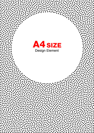 a4 background: Abstract Halftone Dots Frame. Circle Background. A4 size, a4 format. Vector illustration