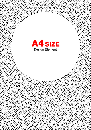 a4: Abstract Halftone Dots Frame. Circle Background. A4 size, a4 format.