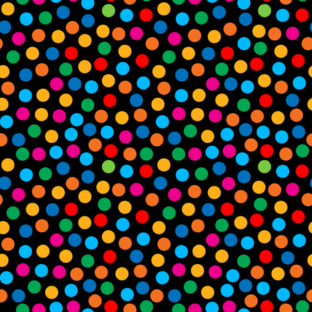 industry pattern: Rainbow bright dots seamless pattern for textile cloth industry. Vector background. Illustration