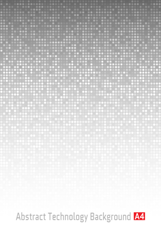 a4: Abstract Gray Technology Background,  a4 format. A4 size. Vector illustration