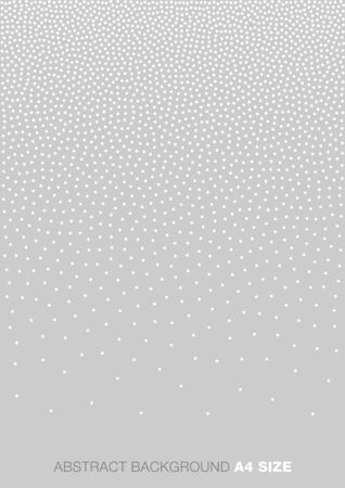 a4: Abstract Gradient Halftone White Dots on Gray Background, A4 size. a4 format illustration.