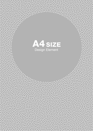 gray pattern: White abstract halftone dots circle frame on light gray background. Abstract circle gray dots background. Circle frame dots Backdrop. Dots pattern. Background A4 size, a4 format backdrop frame