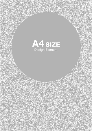 pattern background: White abstract halftone dots circle frame on light gray background. Abstract circle gray dots background. Circle frame dots Backdrop. Dots pattern. Background A4 size, a4 format backdrop frame