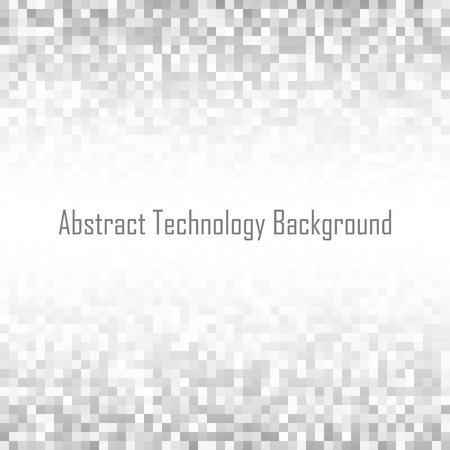 gray: Abstract gray pixelated  technology backgroundt. Business light pixel pattern background, square paper size .  Vector pixel texture background illustration