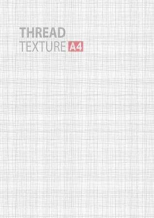 Grigio chiaro linea bianca struttura del tessuto in termini di dimensioni A4 fondo vettore, filo formato verticale vettore sfondo grigio modello A4. tessuto Vector thread in background illustrazione.