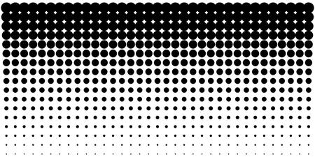세로 그라데이션 사용 하프 톤 도트 배경, 하프 톤 도트 패턴을 사용 하여 가로 서식 파일. 벡터 일러스트 레이 션