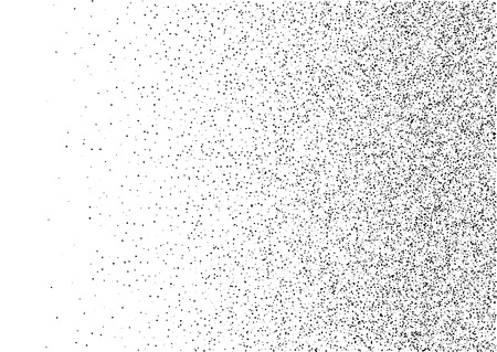 vector raster background: Abstract gradient halftone random dots background. A4 paper size, vector illustration, bw backdrop using halftone circle dots raster pattern texture. Illustration