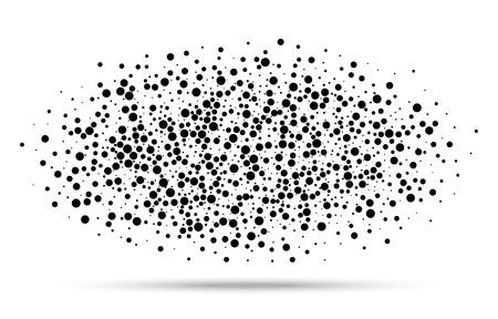 ドットの抽象楕円形のブロット、ベクトルイラスト