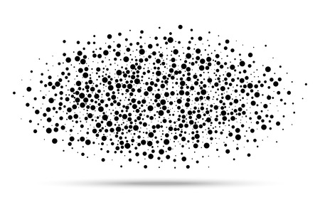 abstract oval blot of dots, vector illustration