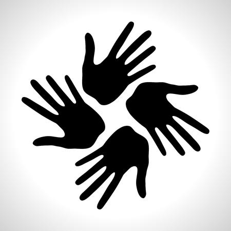 Hand Print icon. Vector illustration. Logo element