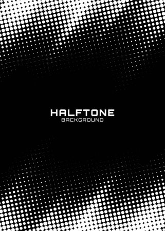 Halftone dots gradient pattern texture vertical background. Frame using halftone circle zigzag grunge pattern for design of posters, flyers, brochures, covers. Vector zigzag spotted illustration. Foto de archivo - 130011096