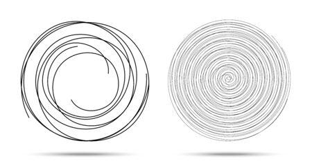 Spiral logo design elements. Vector illustration. Set of spirals.
