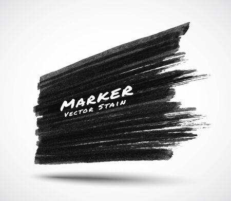 Fond de texture de tache de trait de marqueur noir en perspective. Bannière de vente texturée grunge. Illustration de logo vectoriel. Logo