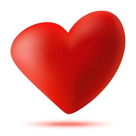Heart 3d . Valentine heart icon for medical, health, high tech. Vector illustration. Illustration