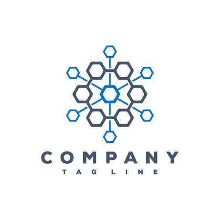 atom tech logo design