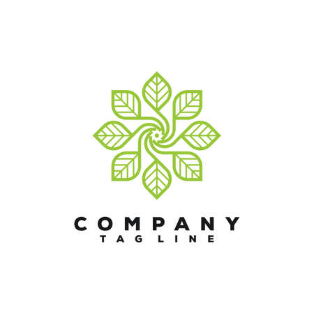 luxury leaf logo design