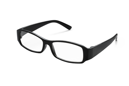 Black glasses isolated on white background (Clipping path included) to aid vision Banco de Imagens