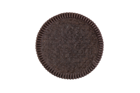 Cookies and cream close-up shot of front crust side (no trademark or brand) isolated on white background (Clipping path included) for graphic use
