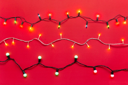 Pink Led  Lights White Wire | Christmas Light Bulbs And Led Lights On String In Multi Colours