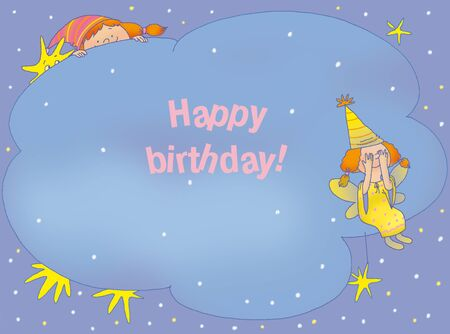 birthday card with two fairies