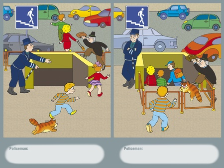 Police found a way to force pedestrians to use the underground passage