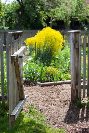 Open garden gate photo